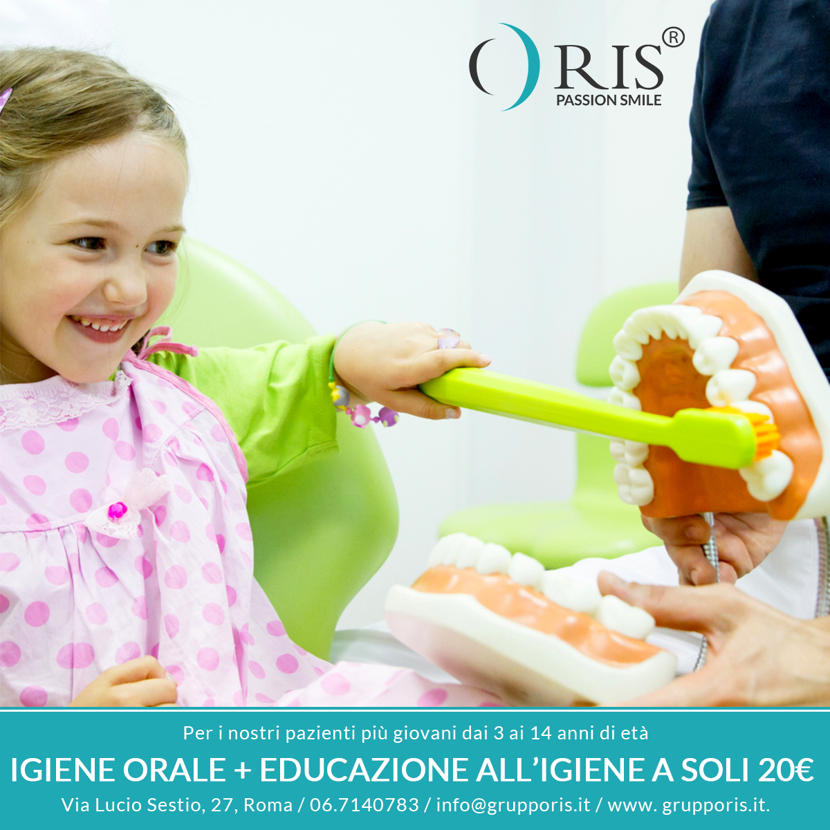 Igiene orale + educazione igiene domiciliare